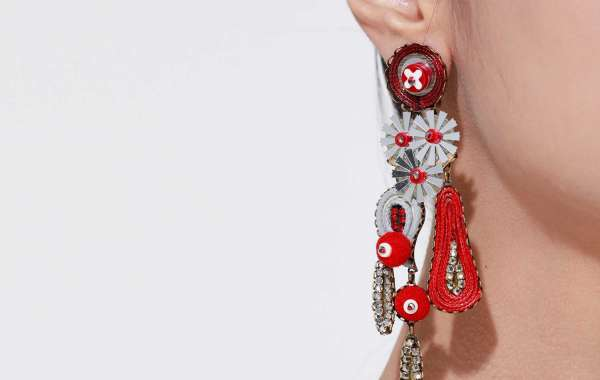 Fashion Beaded Tassel Statement Earrings